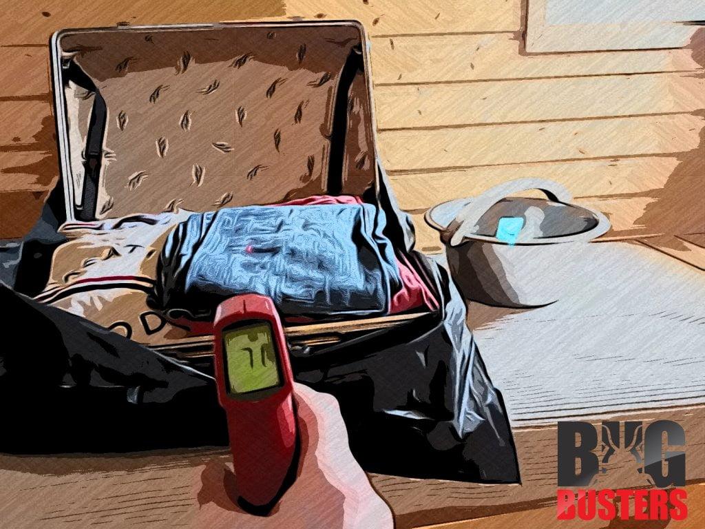 Kun matkalaukun ulkolämpötila ylittää +60c astetta, voit avata matkalaukun lopullista luteiden tuhoamista varten.